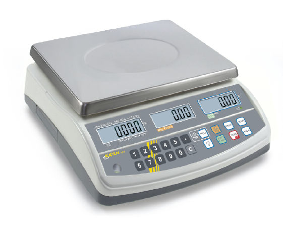 KERN Price computing scale with type approval 0,002 kg: 0,005 kg : 6 kg: 15 kg